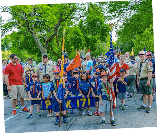 Scouts at Parade