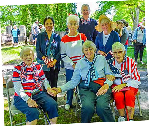 Seniors at Memorial Day Parade