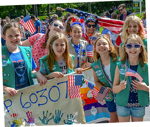 Girl Scouts at Parade