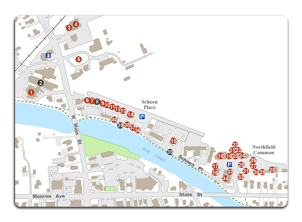 Canal Shopping Map
