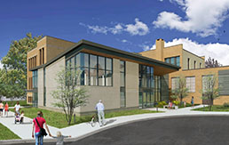 Community Center South Entrance Rendering